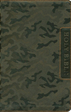 NIV Boys' Bible--soft leather-look, brown camo
