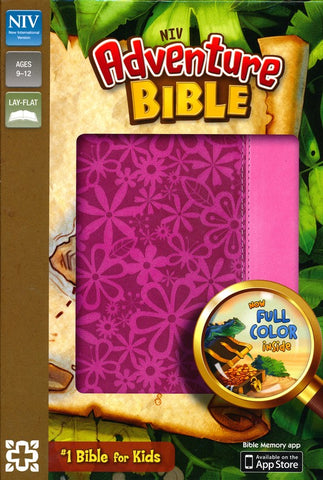 NIV Adventure Bible-Raspberry Pink Floral
