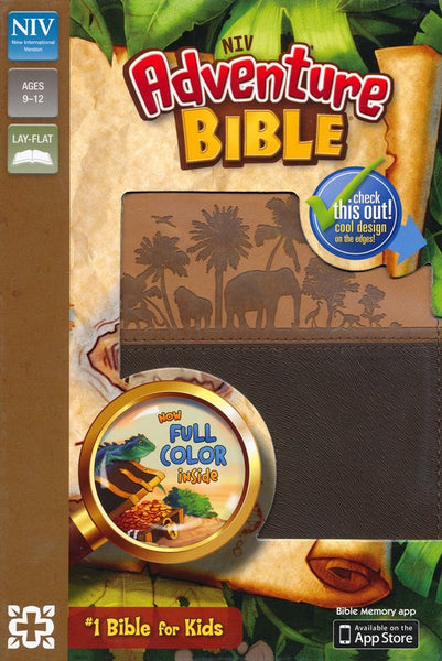 NIV Adventure Bible (Full Color)-Chocolate/Toffee Duo-Tone