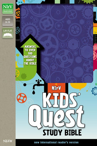 NIrV Kids' Quest Study Bible (Updated)-Blue Duotone