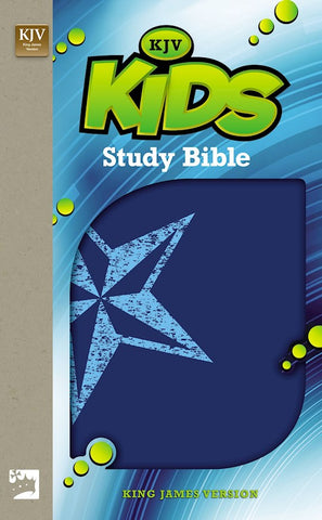 KJV Kids Study Bible- Blue Galaxy Star