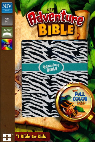 NIV Adventure Bible (Full Color)-Zebra Print Leathersoft