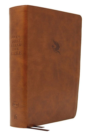 NKJV Comfort Print Spirit-Filled Life Study Bible, Third Edition, Imitation Leather, Brown, Indexed