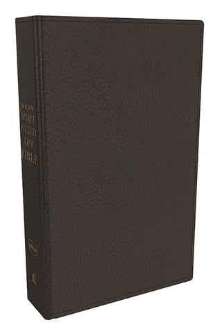 NKJV Spirit-Filled Life Study Bible-Black Genuine Leather