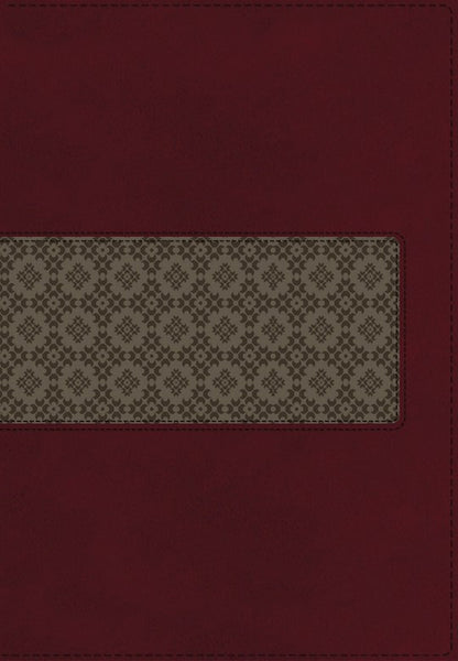 KJV Large Print Study Bible (Second Edition)-Rich Ruby/Warm Taupe LeatherSoft Second Edition