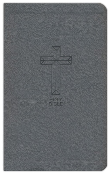 NKJV Thinline Bible (Comfort Print)-Charcoal Leathersoft Holy Bible, New King James Version