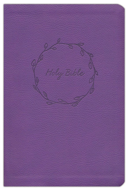 NKJV Thinline Bible/Large Print (Comfort Print)-Purple Leathersoft Holy Bible, New King James Version