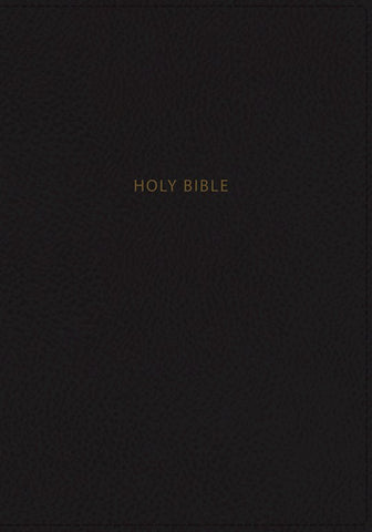 NKJV Deluxe Personal Size Giant Print Reference Bible (Comfort Print)-Black Leathersoft Indexed