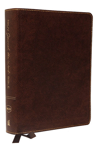 NKJV Journal The Word Bible (Comfort Print)-Brown Bonded Leather