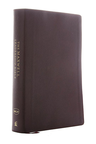 NKJV Maxwell Leadership Bible (Third Edition) (Comfort Print)-Burgundy Premium Bonded Leather