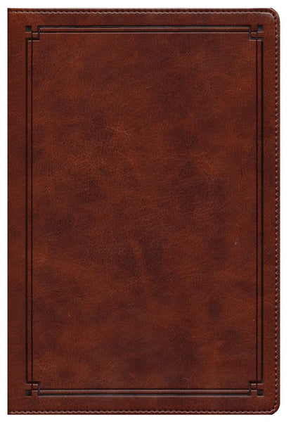 NKJV Comfort Print Study Bible, Imitation Leather, Mahogany Brown