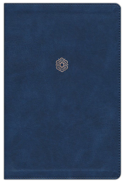 NKJV Woman's Study Bible (Full Color)-Navy Blue Leathersoft Indexed