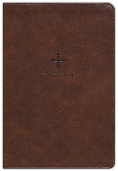 NRSV Catholic Bible/Large Print (Comfort Print)-Brown Leathersoft Holy Bible