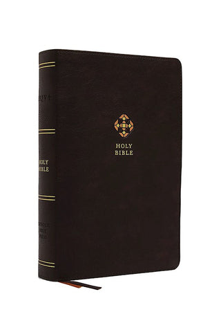NRSV Catholic Journal Bible (Comfort Print)-Brown Leathersoft Holy Bible