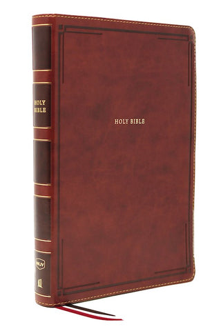 NKJV Thinline Bible/Giant Print (Comfort Print)-Brown Leathersoft Holy Bible, New King James Version