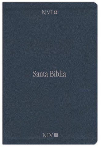Spanish-NVI/NIV Bilingual Bible (Comfort Print)-Blue Leathersoft