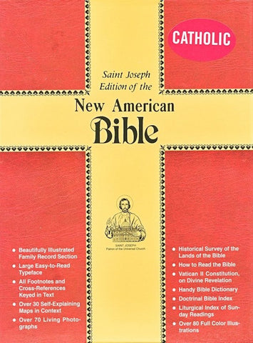 NABRE St Joseph Large Print Holy Spirit Bible-Black