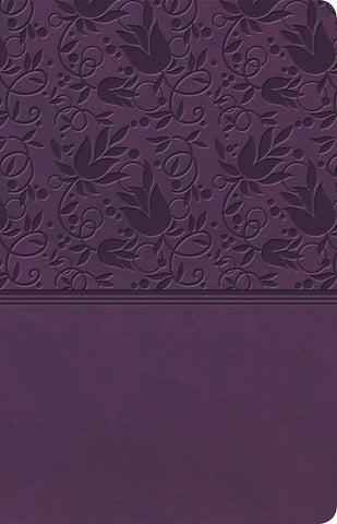 KJV Ultrathin Reference Bible-Purple LeatherTouch Indexed