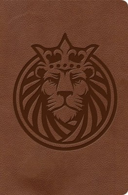 KJV Kids Bible, Brown Lion LeatherTouch