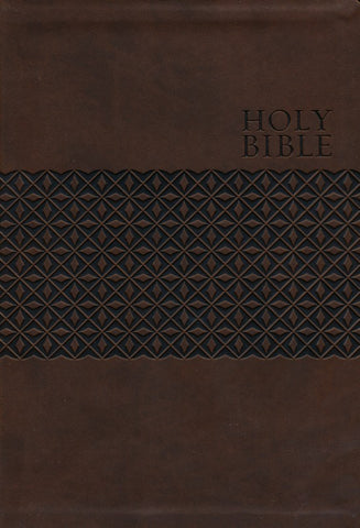 KJV Large Print Study Bible Earth Brown Indexed