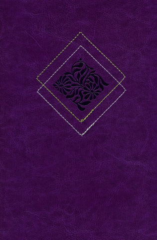 NLT Our Daily Bread Devotional Bible- Purple Leatherlike