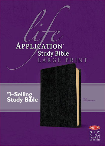 NKJV Life Application Study Bible/Large Print-Black Bonded Leather Indexed