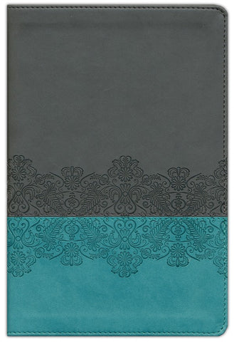 Life Application Study Bible NLT, Personal Size, TuTone Juniper/Grey Lace