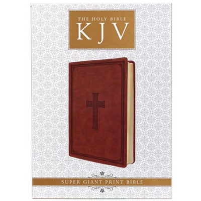 KJV Super Giant Print Edition Tan Cross Design