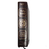 KJV Large Print Family Bible-Brown LuxLeather Hardcover