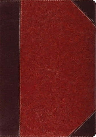 ESV Study Bible -Brown/Cordovan Portfolio Design Indexed