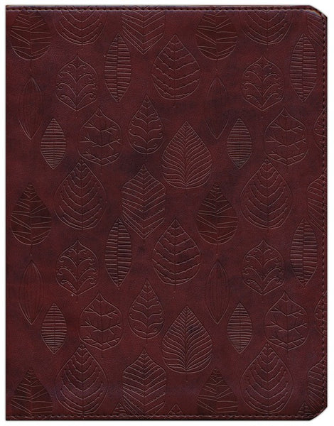 ESV Single Column Journaling Bible (TruTone, Chestnut, Leaves Design)