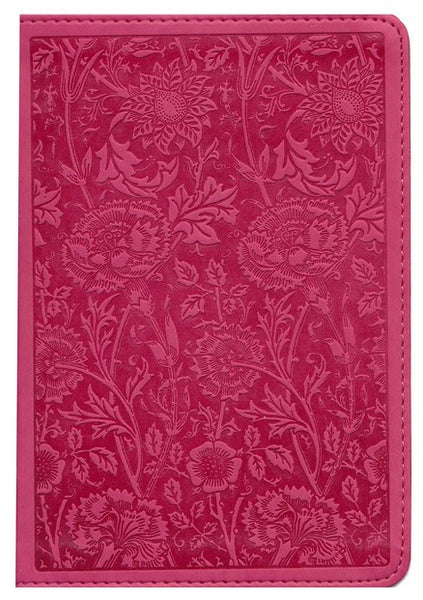 Compact Large Print ESV Bible -Pink Floral