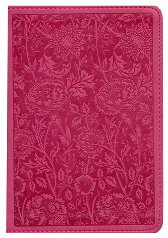 ESV Large Print Compact Bible, TruTone Imitation Leather, Berry, Floral Design
