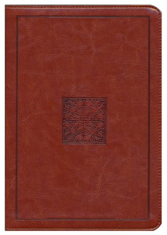 ESV Study Bible Celtic Cross Walnut Brown