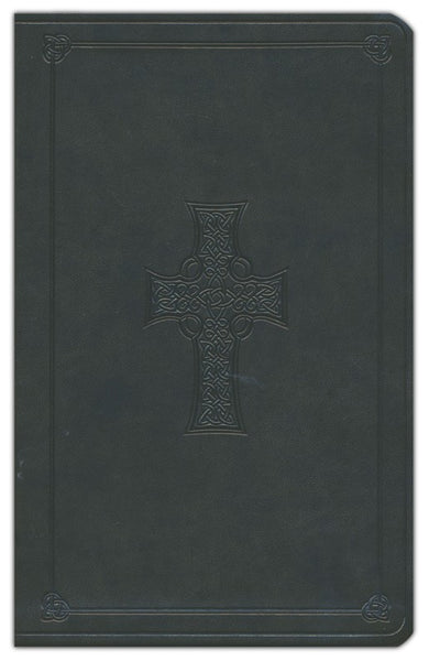 ESV Celtic Cross Thinline Design Bible-Dark Olive
