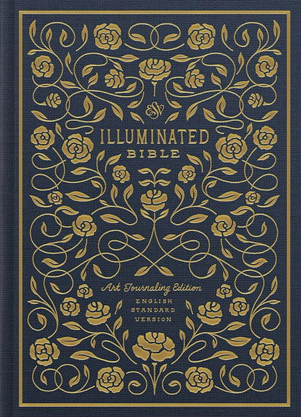 ESV Illuminated Bible, Art Journaling Edition, Blue Clothbound Hardcover with Slipcase