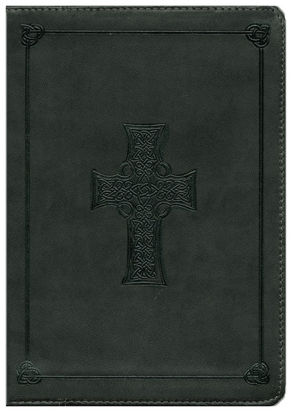 ESV Study Bible  Imitation Leather, Olive, Celtic Cross Design