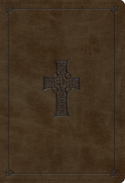 ESV Student Study Bible TruTone Imitation Leather Olive with Celtic Cross Design