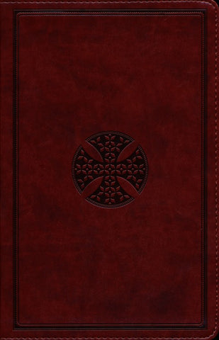 ESV Value Thinline Bible-Brown Mosaic Cross Design TruTone