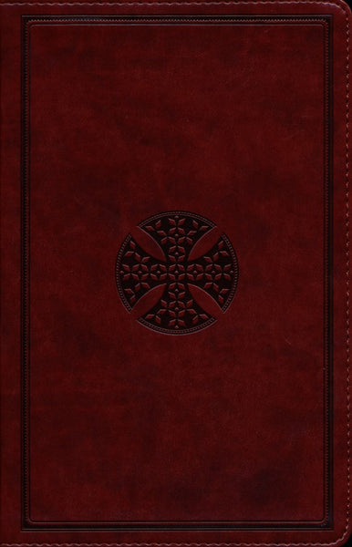 ESV Thinline Bible-Brown Mosaic Cross Design TruTone - Limited Quantities Available