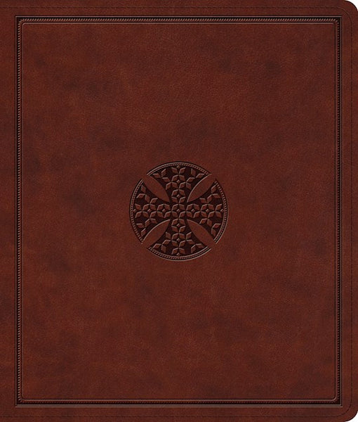 ESV Journaling Bible-Brown Mosaic Cross Design TruTone