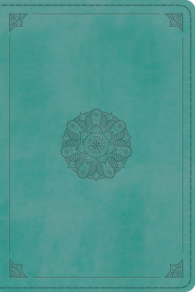 ESV Personal Reference Bible-Turquoise Emblem Design TruTone