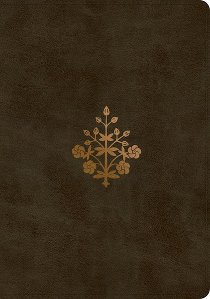 ESV Single Column Journaling Bible/Large Print-Olive Branch Design TruTone   -Limited Quantities