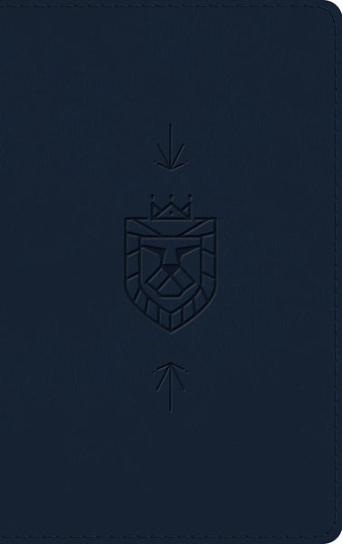 ESV Kid's Thinline Bible-Navy Lion Of Judah Design TruTone