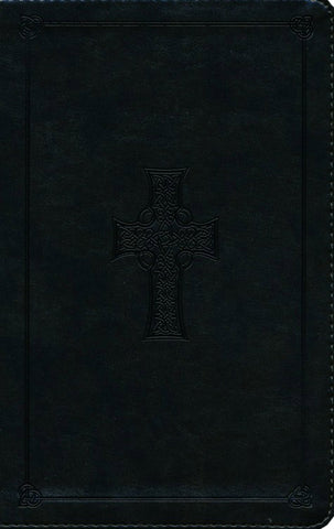 ESV Large Print Personal Size Bible-Olive Celtic Cross Design TruTone -  Limited Quantities Available