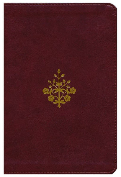 ESV Study Bible/Personal Size-Burgundy Branch Design TruTone