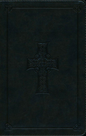 ESV Thinline Celtic Cross Bible-Dark Green