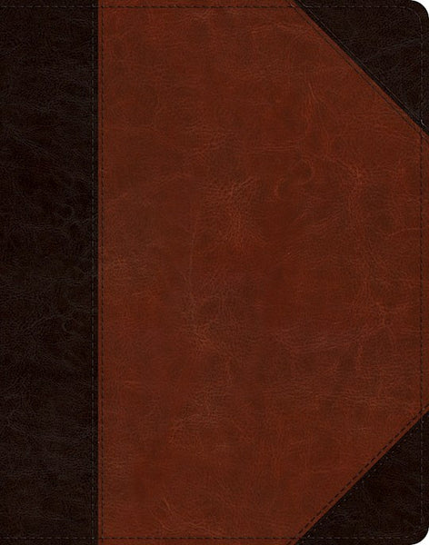 ESV Single Column Journaling Bible-Brown/Cordovan Portfolio Design TruTone