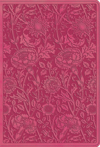 ESV Student Study Bible-Berry Floral Design TruTone