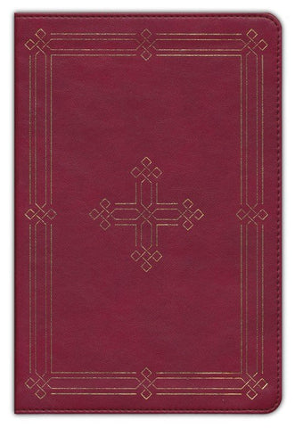 ESV Study Bible/Personal Size-Crimson Cross TruTone